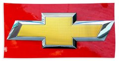 Red Chevy Bowtie Hand Towel