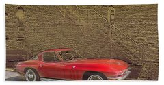 Red Corvette Hand Towel