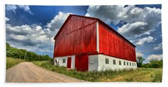 Red Country Barn Hand Towel