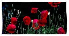 Red Dance Hand Towel by Edgar Laureano