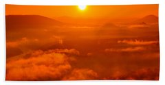 Red Dawn On The Lilienstein Bath Towel