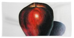 Red Delicious Apple Hand Towel by Marna Edwards Flavell