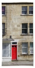 Red Door In Bath Hand Towel