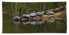 Red-eared Slider Turtles Bath Towel