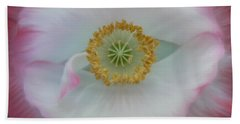 Hand Towel featuring the photograph Red Eye Poppy by Barbara St Jean