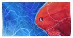 Red Fish Bath Towel