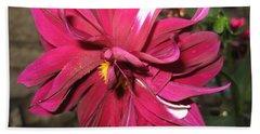 Red Flower In Bloom Bath Towel