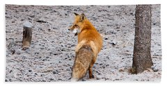 Red Fox Egg Thief Bath Towel