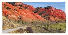 Red Hills Of The Gros Ventre Bath Towel