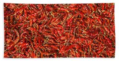 Red Hot Chillies Hand Towel