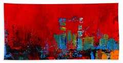 Bath Towel featuring the painting Red Inspiration by Elise Palmigiani