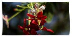 Red Jasmine Blossom Hand Towel by Ramabhadran Thirupattur