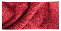 Red Knitted Wool Bath Towel
