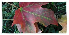 Red Leaf Hand Towel