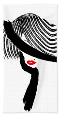 Red Lips Bath Towel