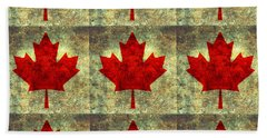 Red Maple Leaf Hand Towel