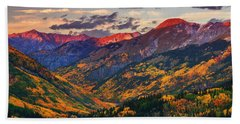 Red Mountain Pass Sunset Hand Towel