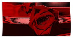 Red Passion. Rose Bath Towel