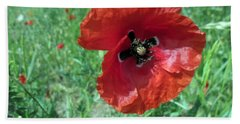 Hand Towel featuring the photograph Red Poppy by Vesna Martinjak