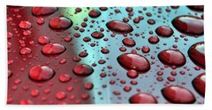 Red Rain Hand Towel