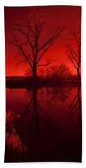Red Reflections Bath Towel