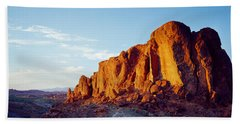 Red Rock At Summer Sunset, Valley Of Bath Towel