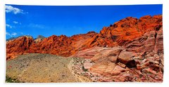 Red Rock Canyon Hand Towel by Mariola Bitner