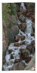 Red Rock Falls Bath Towel