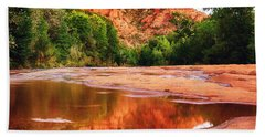 Red Rock State Park - Cathedral Rock Hand Towel by Bob and Nadine Johnston