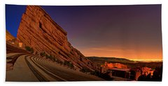 Red Rocks Amphitheatre At Night Hand Towel