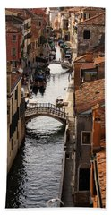 Red Roofs Of Venice Hand Towel