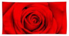 Red Rose 1 Bath Towel