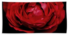 Hand Towel featuring the photograph Red Rose by Charlotte Schafer