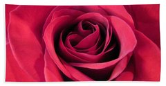 Red Rose Christmas Love Bath Towel