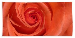 Red Rose Hand Towel by Eva Csilla Horvath