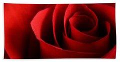Red Rose Macro Bath Towel