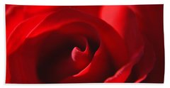 Red Rose Hand Towel by Tikvah's Hope