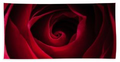 Red Rose Square Hand Towel by Matt Malloy
