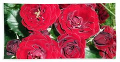 Hand Towel featuring the photograph Red Roses by Vesna Martinjak