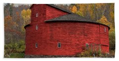 Red Round Barn Bath Towel