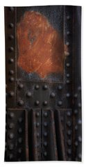 Red Rust Rivets Hand Towel