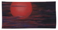 Red Sky A Night Bath Towel by Michelle Joseph-Long