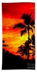 Red Sky At Night Hand Towel by David Lawson
