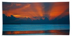 Tropical Florida Keys Red Sky At Night Hand Towel