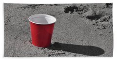 Red Solo Cup Hand Towel by Trish Tritz
