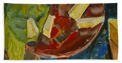 Red Table Top Still Life Hand Towel