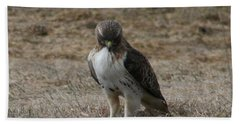 Bath Towel featuring the photograph Red Tailed Hawk by Neal Eslinger