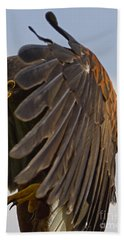 Bath Towel featuring the photograph Red-tailed Tallons by J L Woody Wooden