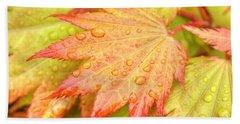 Red Tip Leaf Hand Towel