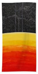 Red To Yellow Spacescape Bath Towel